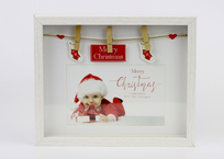 Merry Christmas Peg Box Frame 4 x 6